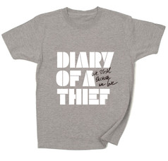 Diary of a Thief / logo ( white ) :